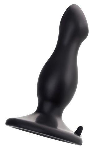 Черная анальная втулка Antlia - 10,5 см.