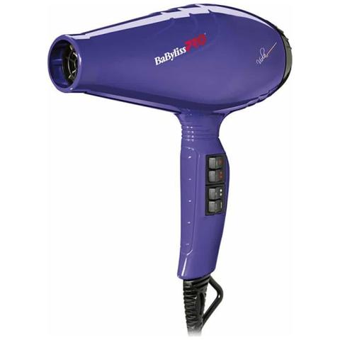 Фен BaByliss Pro Viola, 2100 Вт, 2 насадки, фиолетовый