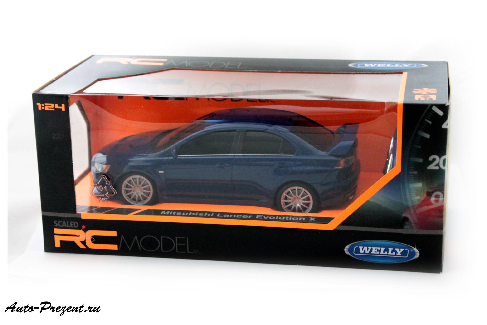 Машинка-игрушка MITSUBISHI LANCER EVOLUTION X на радиоуправлении.