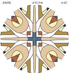 Эскиз для росписи, Круг диаметр-47,5см, SMAR-st-62