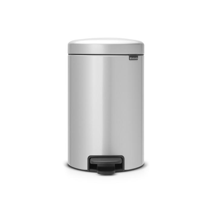 Мусорный бак newicon (12 л), Серый металлик, арт. 113680 - фото 1