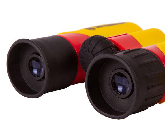 Бинокль детский Bresser Junior 6x21 желтый - фото 7 - окуляры с мягкими наглазниками