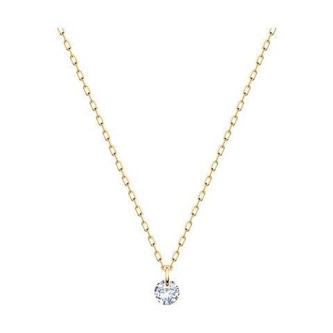 070377 - Колье из золота с фианитом бриллиантовой огранки без оправы