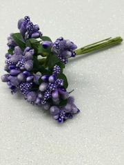 Букет декоративный 10 см - миниягодки в сахаре 5 мм.