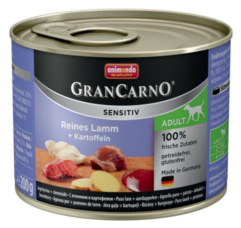 Консервы Animonda Gran Carno Sensitiv c ягненком и картофелем для собак с чувствительным пищеварением
