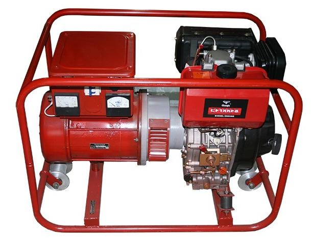 Электроагрегат путевой дизельный АД4 (4 кВт) с двигателем Kipor