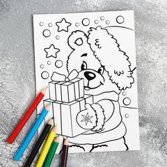 Конфеты с раскраской и карандашами