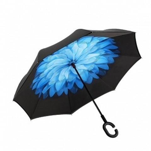 Антизонт (зонт наоборот) голубой цветок