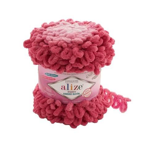 Купить Пряжа Ализе Пуффи Омбре Батик - цвет 7418 | Интернет-магазин пряжи «Пряха»
