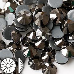 Стразы горячей фиксации клеевые стеклянные термостразы Jet Hematite Джет Гематит металлик на StrazOK.ru оптом