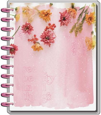 Ежедневник BIG - Big Vertical Happy Planner - Pressed Florals - Датирован с июля 2021 по декабрь 2022 - 23х28.5см