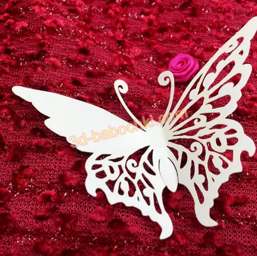 Оформление бокалов бабочками