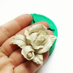 0531 Молд силиконовый Роза с бутоном