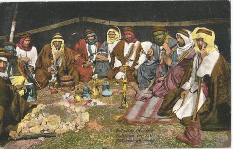 Bedouins in camp