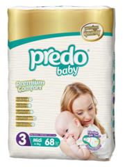 Predo. Подгузники Baby Гигантская пачка № 3 (4-9 кг Midi), 68 шт. вид 1