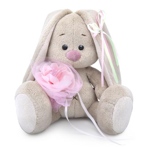 Зайка Ми с розовым цветком