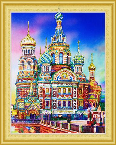 Алмазная Мозаика 5D 40x50 Храм Василия Блаженного
