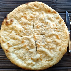 Хачапури постный с картофелем и грибами, 22 см / 350 г