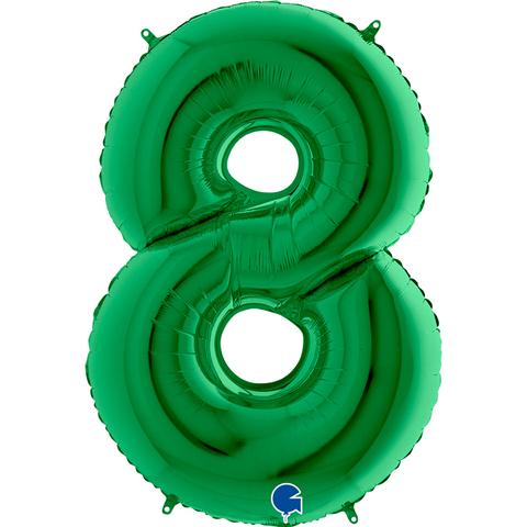 Шар цифра зеленая 8