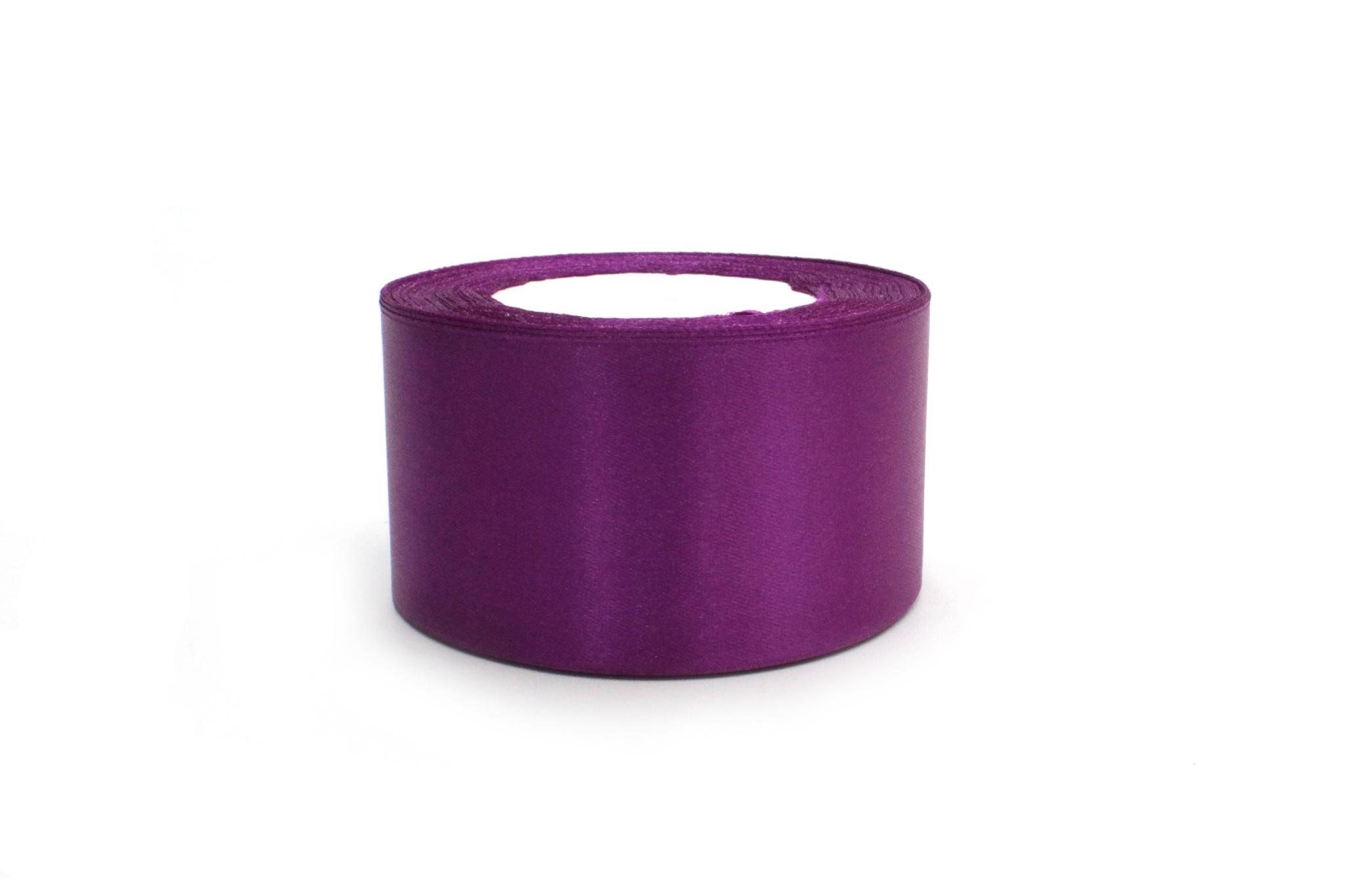 Лента атласная,5 см, фиолетовый