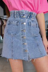 Джинсовая юбка миди с пуговицами Nadya