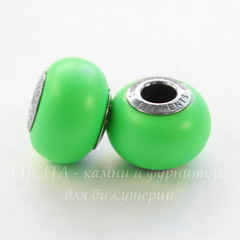 5890 Бусина Сваровски BeCharmed Pearl Crystal Neon Green 14х10 мм
