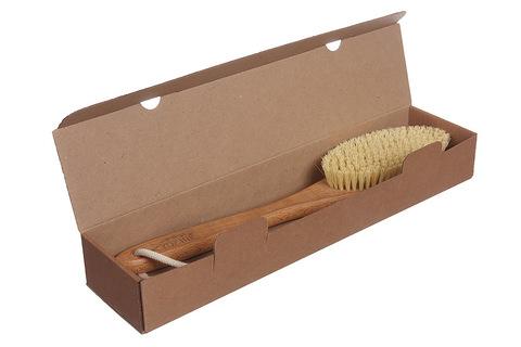 YOZHIK Щётка для сухого массажа (класс L, натуральное волокно тампико)_коробка