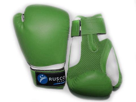 Перчатки боксёрские RUSCOsport, зелёные, 4 Oz: З-4