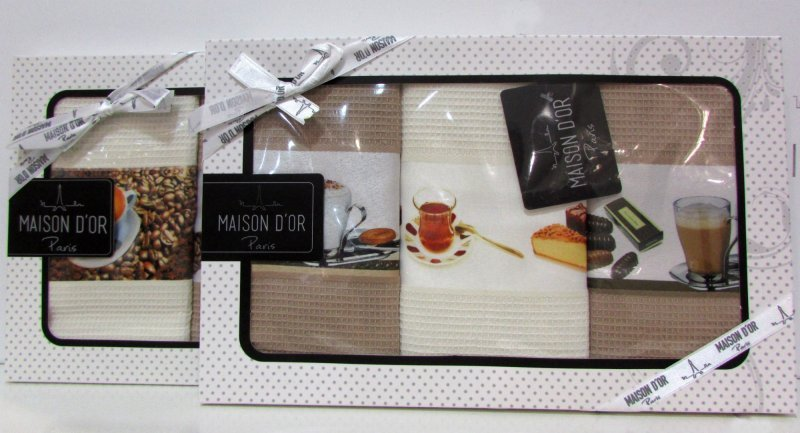 Кухонные полотенца Набор салфкток для кухни  COFFEE TIME - КОФЕ ТАЙМ  в размере 45х70 Maison Dor  Турция ТИ-ТАЙМ.jpg
