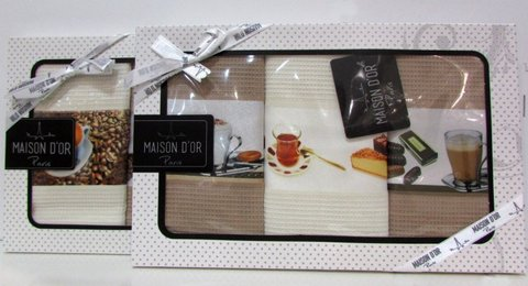 Набор салфкток для кухни  COFFEE TIME - КОФЕ ТАЙМ  в размере 45х70 Maison Dor  Турция