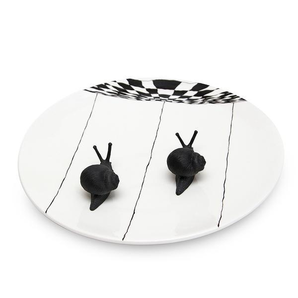 Настенная тарелка с улитками