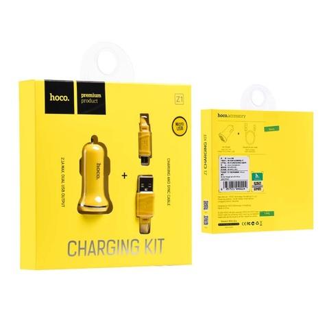 Купить автомобильное зарядное устройство Hoco Z1 + Micro USB