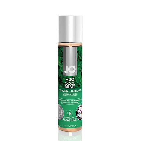 JO H2O Flavored Cool Mint, 30 ml Ароматизированный лубрикант Мята на водной основе