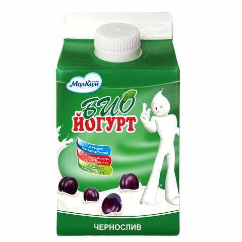Йогурт БИО Чернослив Яблоко 2,2% 0,5 л т/п Молком КАЗАХСТАН