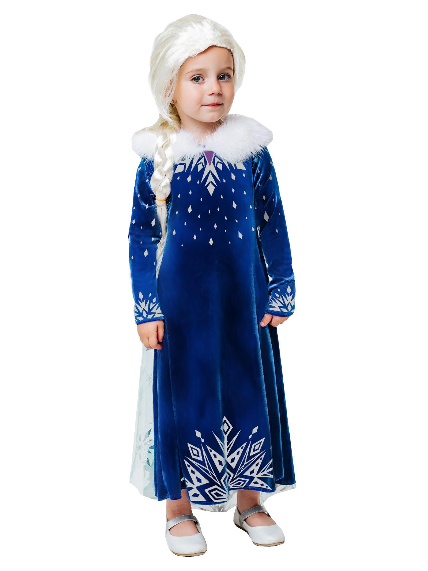 Костюм карнавальный для девочки Эльза зимнее платье