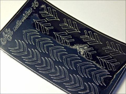 Металлизированные наклейки Arti nails Stiker цвет серебро №16 купить за 100руб
