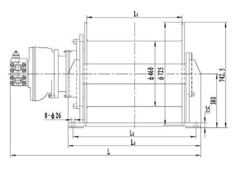 Стандартная лебедка IYJ45-120-122-28-ZP