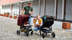 Коляска прогулочная Kinderkraft Grande 2020 Burgundy