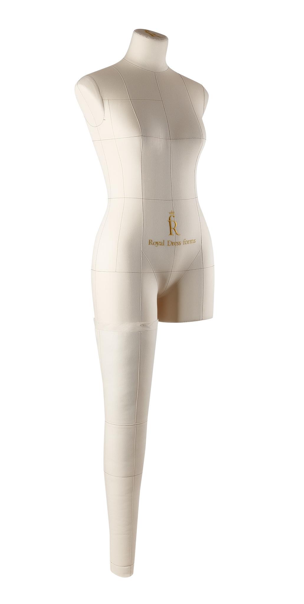 Нога для манекена Моника, размер 44 тип фигуры Песочные часы, БежеваяФото 2