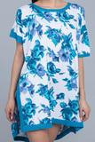 Туника с голубыми розами Twin-Set