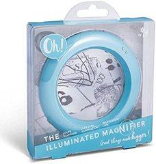 Böyüdücü şüşə Oh! The İlluminated Magnifier - Light Blue