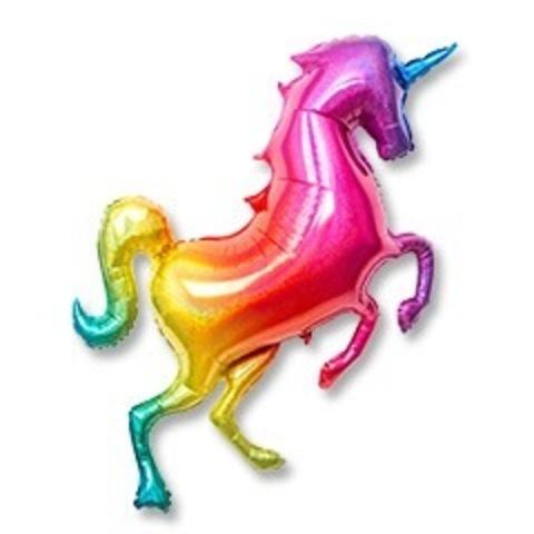 Шар Единорог разноцветный радужный