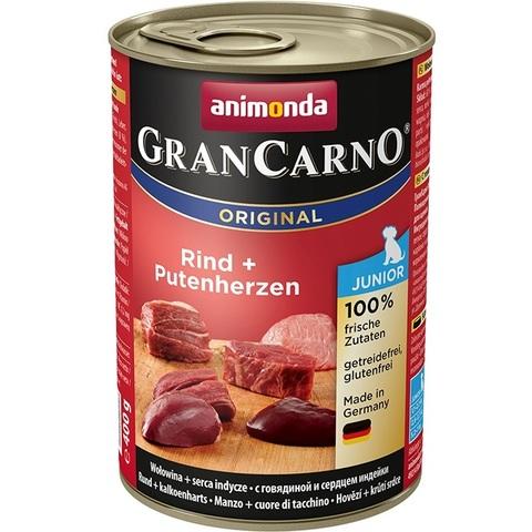 Консервы Animonda Gran Carno Original Junior с говядиной и сердцем индейки для щенков и юниоров