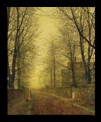 """Репродукция """"Джона Аткинсона Гримшоу - В осеннем золотом сиянии"""""""