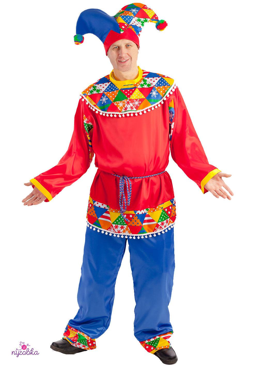 Карнавальный костюм взрослый  Скоморох