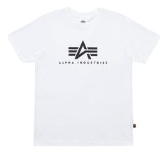 Футболка Alpha Industries Basic Logo White (Белая)