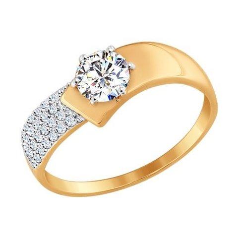 017402 - Кольцо из золота с фианитами