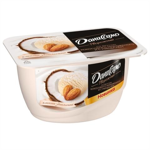 Десерт творожный ДАНИССИМО Кокосовое мороженое Миндаль 130 г Danone РОССИЯ