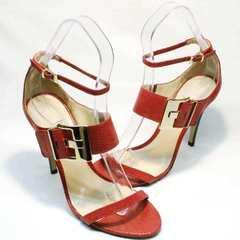 Красные женские босоножки на каблуке Via Uno1103-6605 Red.