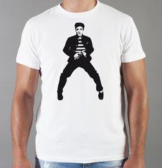 Футболка с принтом Элвис Пресли ( Elvis Presley) белая 006